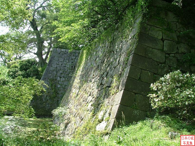 Kurume Castle Stone wall of main enclosure