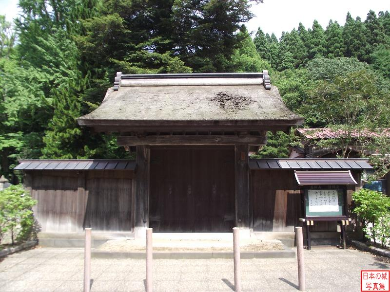 Hiyama Castle Relocated gate (Main gate of Jyoumyou temple)