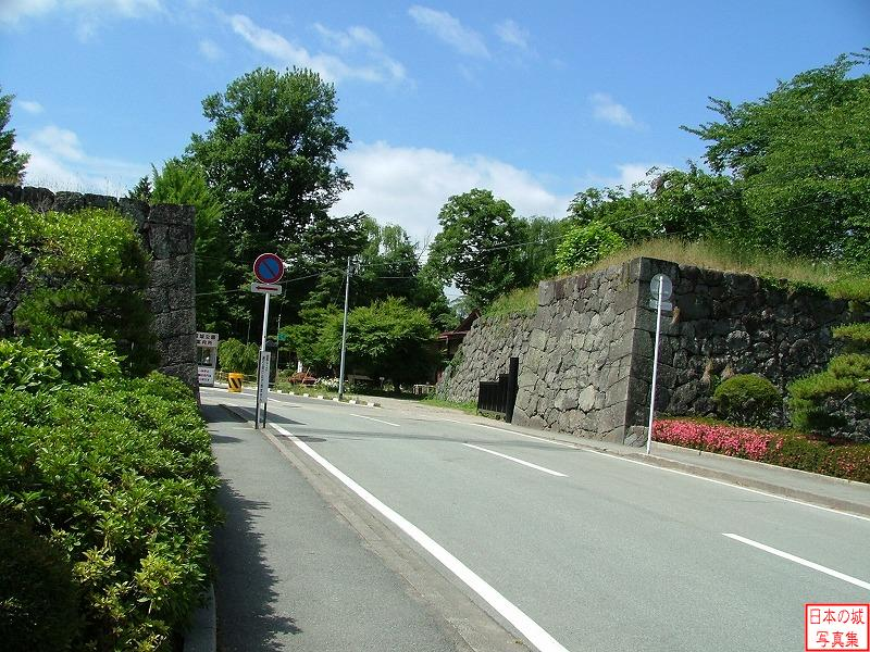 Yamagata Castle The ruins of North Akazu gate (Second enclosure)