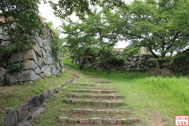 Yonago Castle The ruins of Kurogane-gomon gate