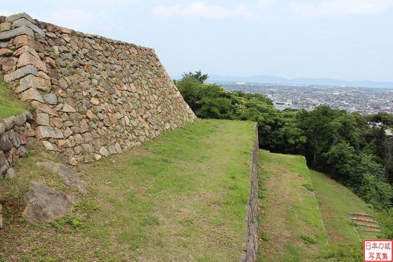 Yonago Castle The ruins of Main Tower