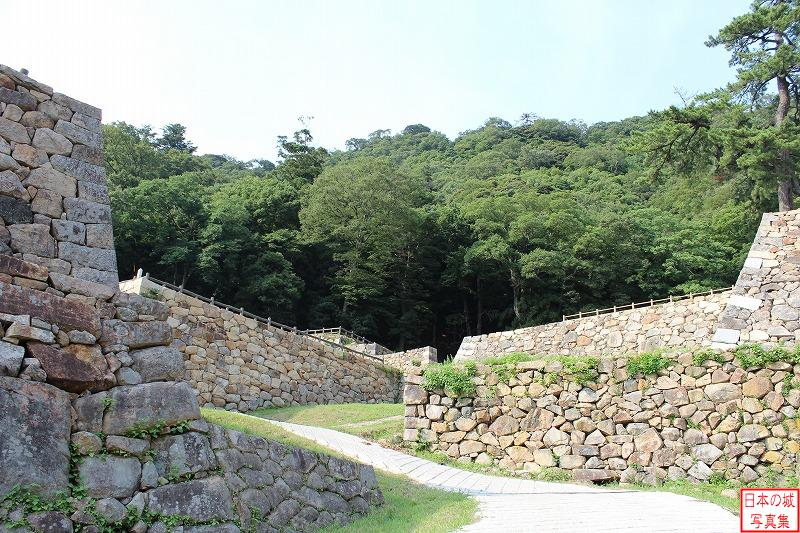 Tottori Castle To the ruins of Omote-gomon gate