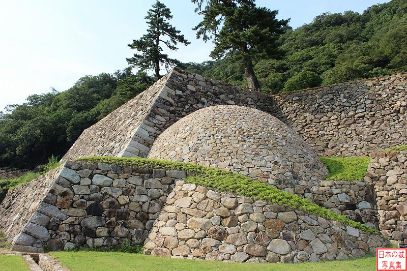 Tottori Castle Maki stone wall of Tenkyu enclosure