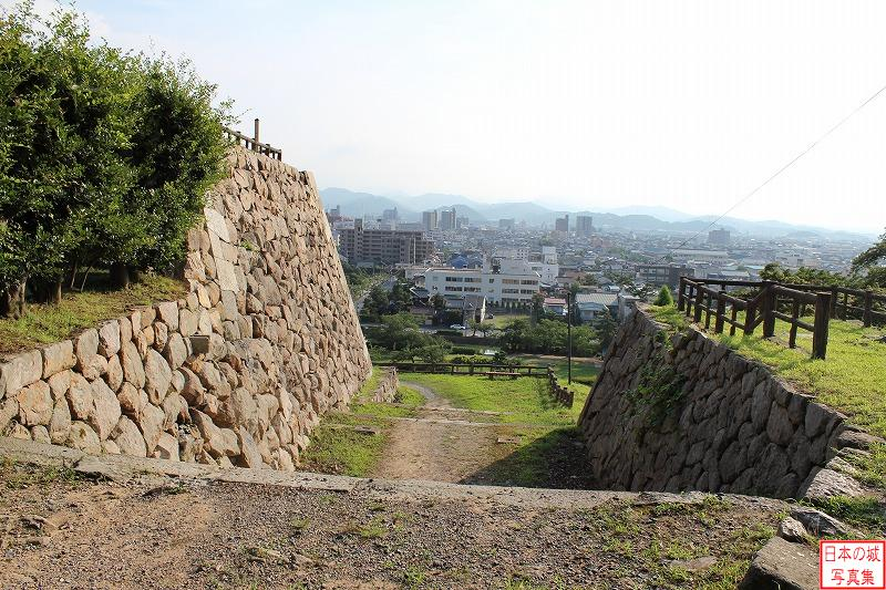 Tottori Castle The ruins of Ura-gomon gate of second enclosure