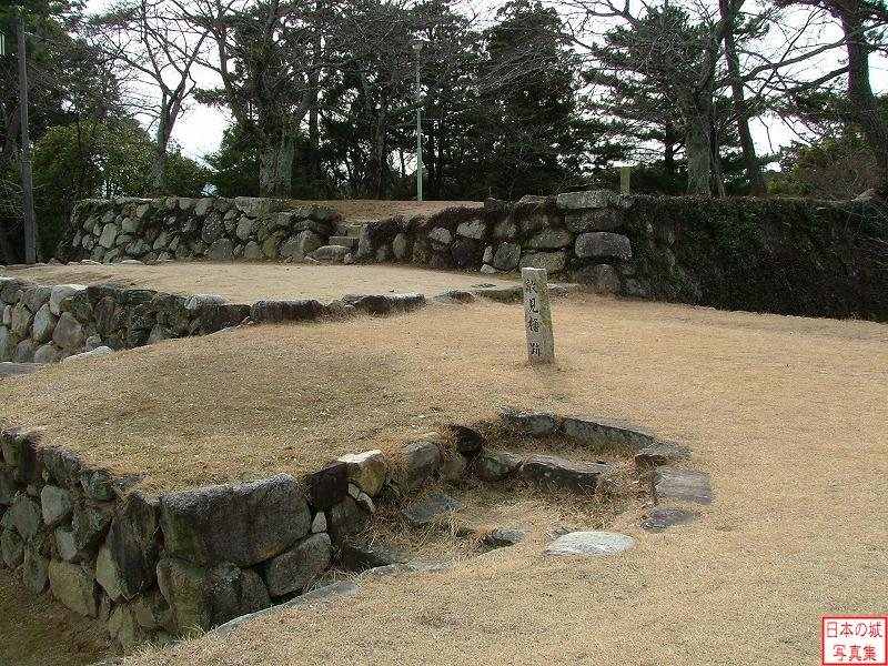 Matsusaka Castle The ruins of Tekimi turret (Main enclosure)