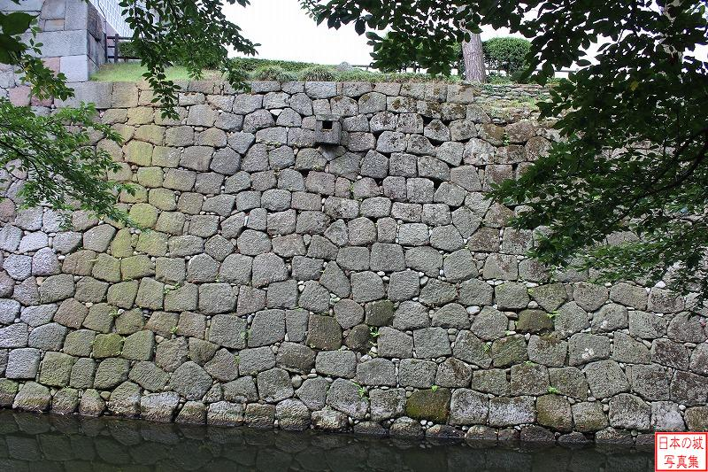 Kanazawa Castle Stone wall of North side of Second enclosure