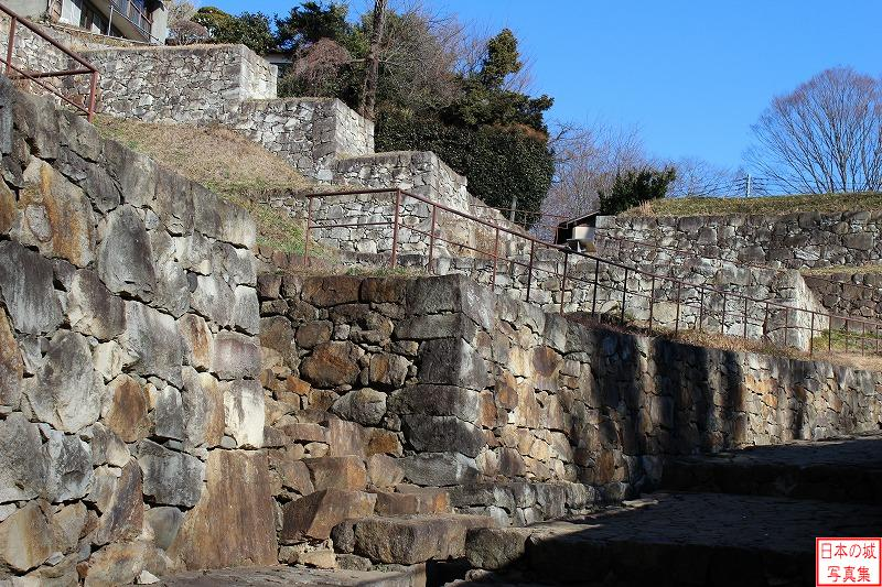 Kanayama Castle North of entrance enclosure