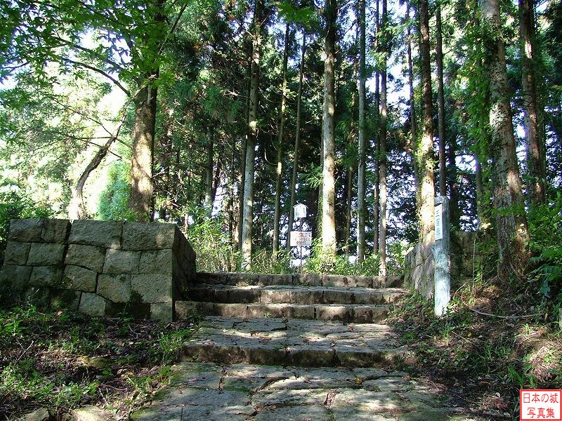 Iwamura Castle The ruins of Toki gate