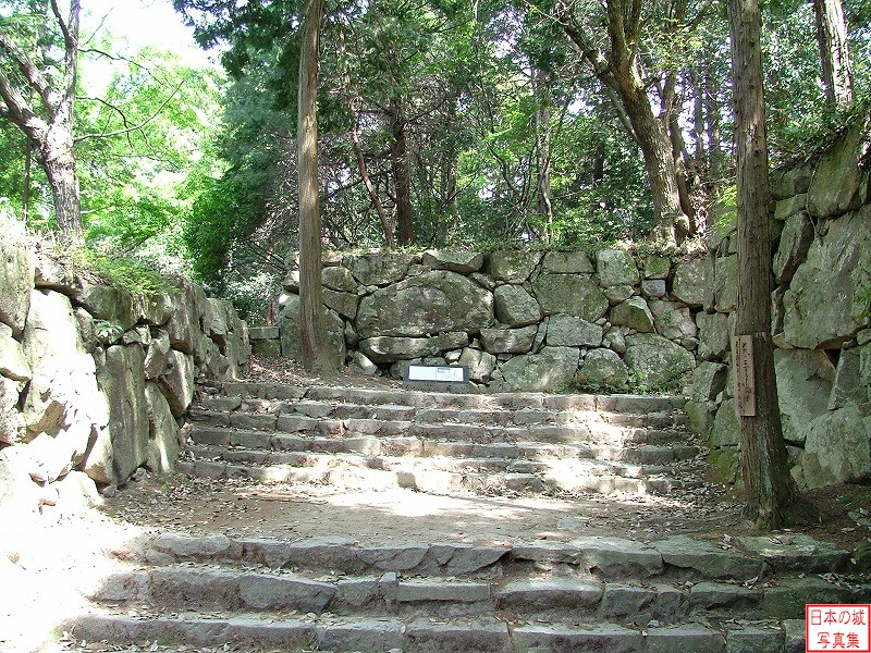 Azuchi Castle The ruins of Kurogane gate