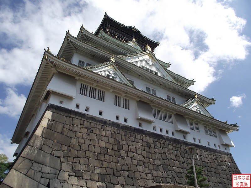 Osaka Castle Main tower (view from the main enclosure)