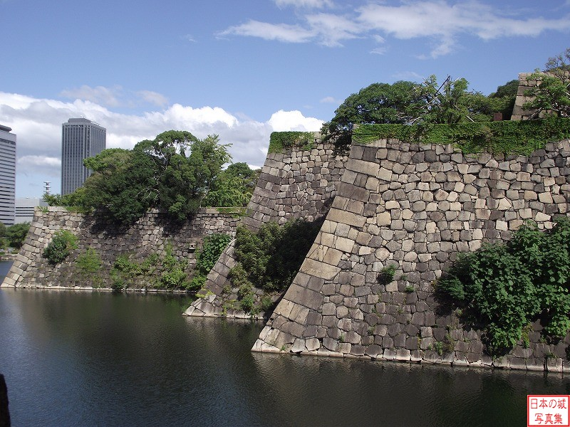 Osaka Castle South and North of Main enclosure