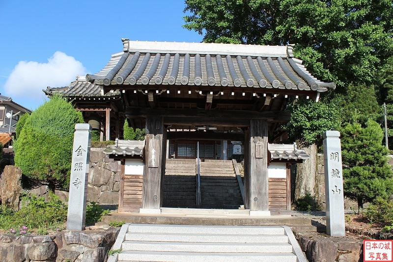 Sasayama Castle Relocated gate (Main gate of Kinsho temple)