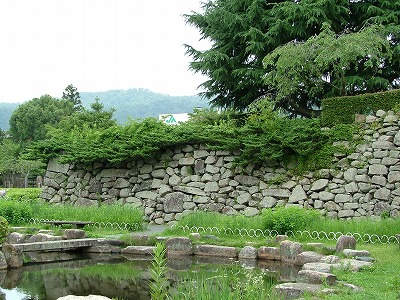 Tanabe Castle Stone wall of main enclosure
